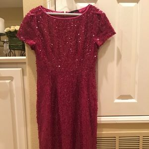 Elie Tahari Dresses - Elie Tahari hot pink sequins dress